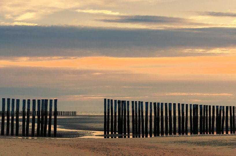 Zonsondergang op het strand van Erna Böhre