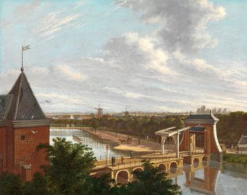 Der Amsterdamer Außenkanal in der Nähe des Leidsepoort vom Theater aus gesehen, Johannes Jelgerhuis
