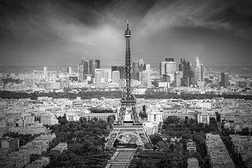 Skyline Van Parijs | Zwart-Wit van Melanie Viola