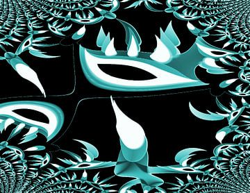 Tribal Cactus Multiplie van Nicky`s Prints