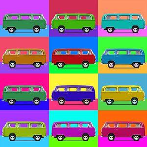 12 bus popart van Joost Hogervorst
