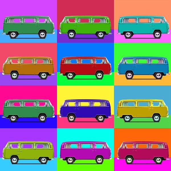 12 bus popart von Joost Hogervorst