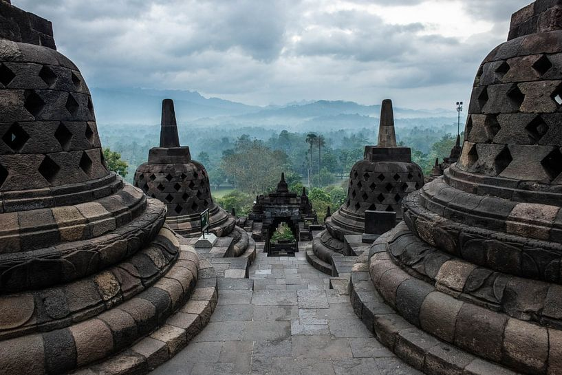 Borobudur Indonesië van Frank  Derks