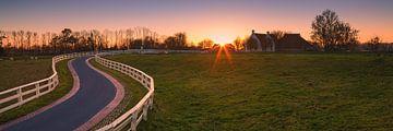Panorama foto van Aduarderzijl van Henk Meijer Photography