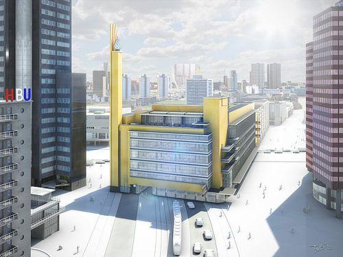Dudok's Bijenkorf, Rotterdam van Frans Blok