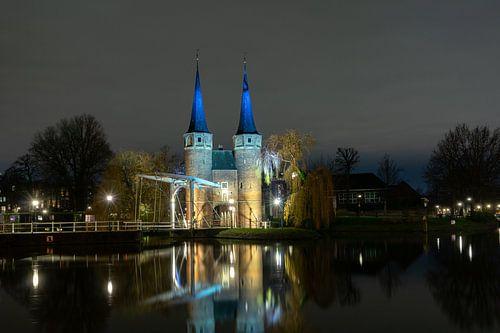 Zicht op Oostpoort Delft
