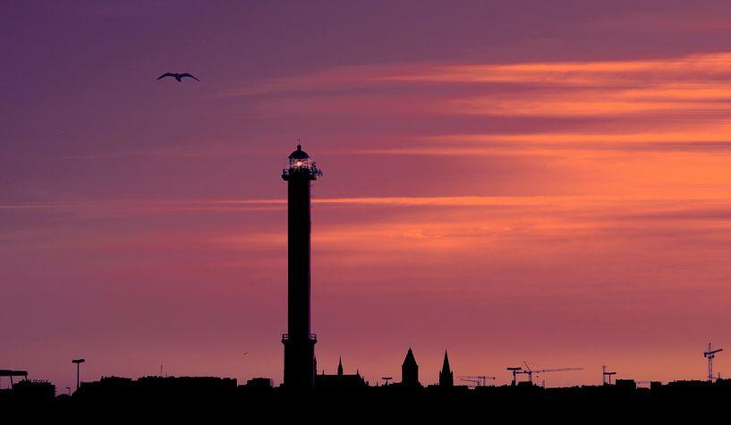 9090646 Ostend Skyline van Adrien Hendrickx