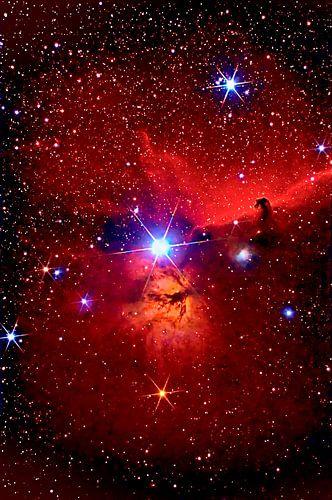 Pferdekopfnebel,Flammennebel und Stern Alnitak von