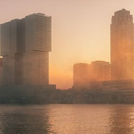 Mist in Rotterdam van Ilya Korzelius