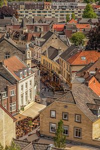 Binnenstad Valkenburg vanaf de Burcht van