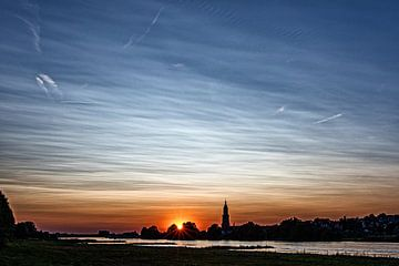 Zonsondergang in Rhenen van Jacques Jullens