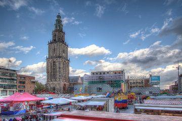 Groningen, Grote Markt, Martini-toren von Tony Unitly