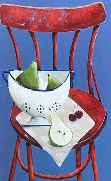 rot funky Stuhl von Eveline van Rooy