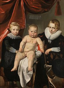 Groepsportret van drie broers, Thomas de Keyser