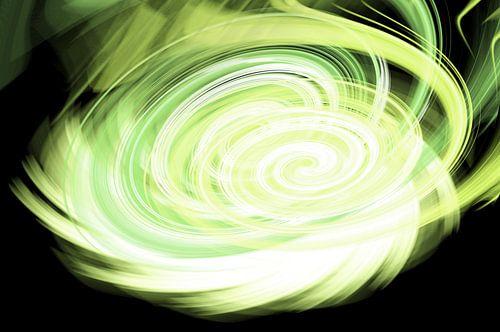 Green twirl van
