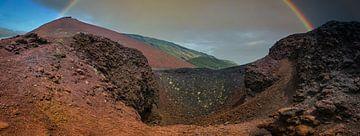 Vulkanische Landschaft in Sizilien in der Nähe von Ätna von Rietje Bulthuis