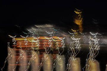 Venlo bij nacht van Wim Knelissen