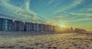 Sonnenuntergang an der Küste von Blankenberge von Mike Maes