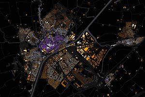 Kaart van Middelburg