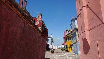 Bunte Häuser Burano von Ard Edsjin