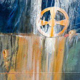 Rumpf mit Rost und Symbol für Bugstrahlruder von Frans Blok