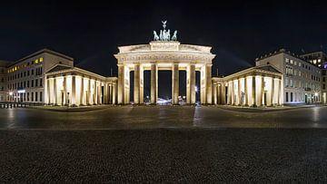 Porte de Brandebourg et Pariser Platz de nuit sur Frank Herrmann