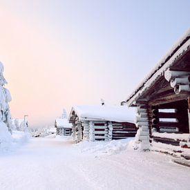 Zonsondergang Lapland van Kimberley Jekel