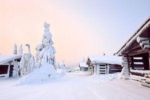Zonsondergang Lapland van
