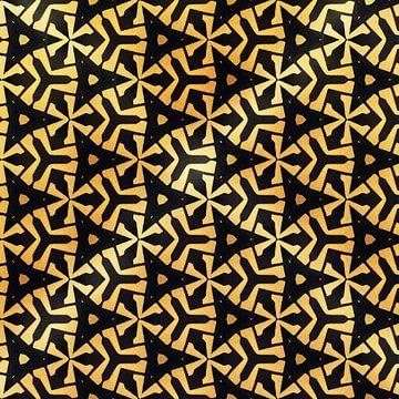 Geometrisch blokpatroon met dieptewerking van