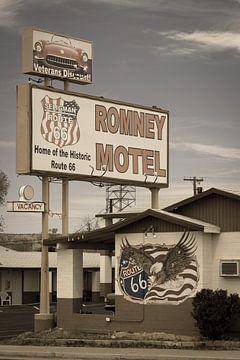 Route 66, motel in Amerika van Inge van den Brande
