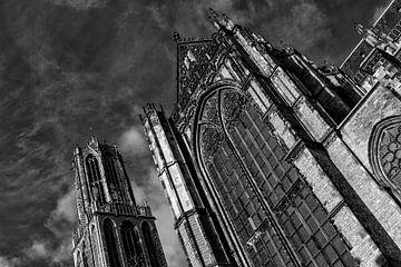 De Utrechtse Dom en Domkerk in zwart-wit (5) van De Utrechtse Grachten