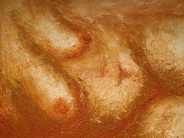 Nackt mit hängender Brust. von Anita Snik-Broeken