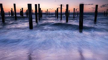 Palendorp am Strand von Petten von Eddy Westdijk