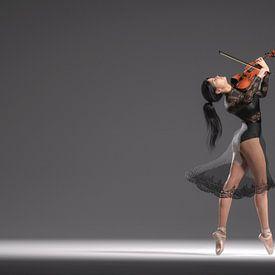 Dansende violiste van Arjen Roos