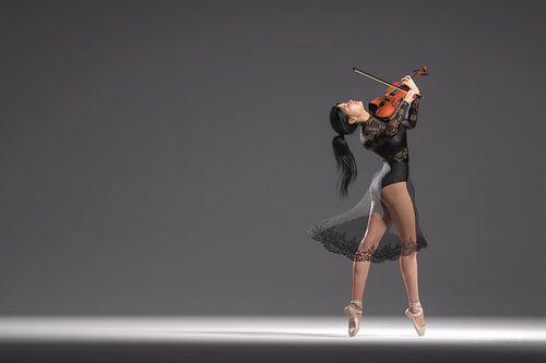 Dansende violiste