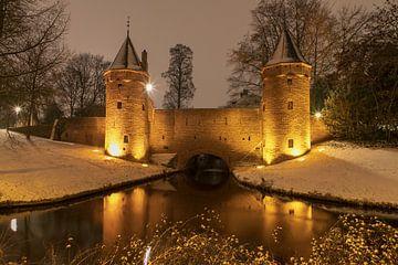 Monnikendam Amersfoort Winter wonderland van Ton Tolboom