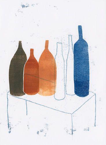 Flessen op tafel, 2020
