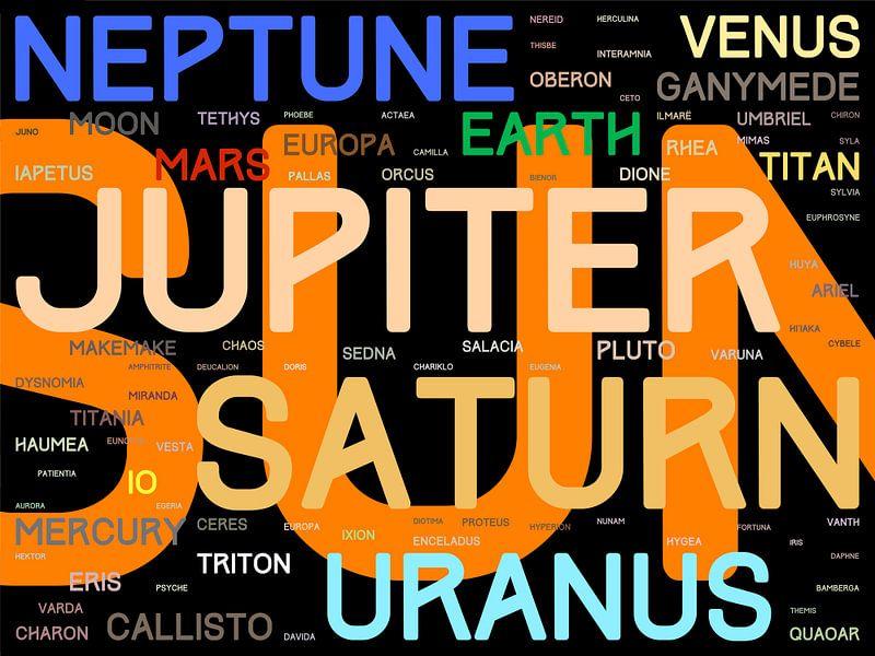 De Namen van het Zonnestelsel - versie 1: kleuren van Frans Blok
