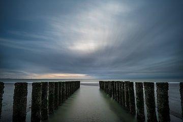 Golfbreker aan de Nederlandse kust von Patrick de Vleeschauwer