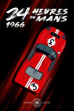 24H du Mans 1966 Dan Gurney, Jerry Grant, Ford GT40