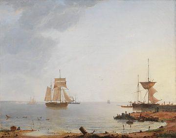 Schiffe vor der Küste Seelands. Guten Morgen, Emanuel Larsen