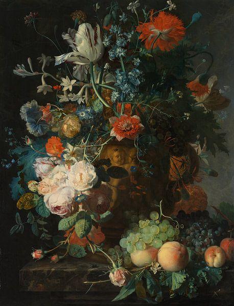 Stillleben mit Blumen und Früchten - Jan van Huysum von 1000 Schilderijen