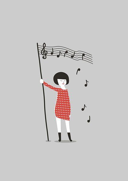 Fight for music (grey) van Rene Hamann