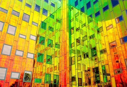 Regenboog reflecties van