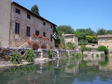 Bagno Vignoni, Toscane, Italie van Patrick Verhoef