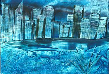 Blaue Stadt von Rosa Fotoart
