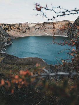 La lagune bleue en Patagonie sur Leo van Gemmern