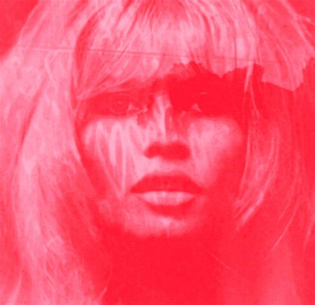 Brigitte Bardot Strawberry Red - Love Pop Art - 24 Colours - Game - IPAD van Felix von Altersheim
