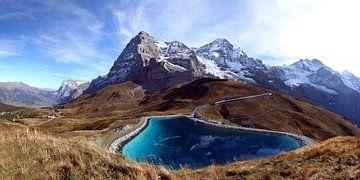 Gezicht op de noordkant van de Eiger van Gerhard Albicker