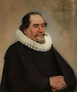 Portret van Abraham de Potter, Carel Fabritius van